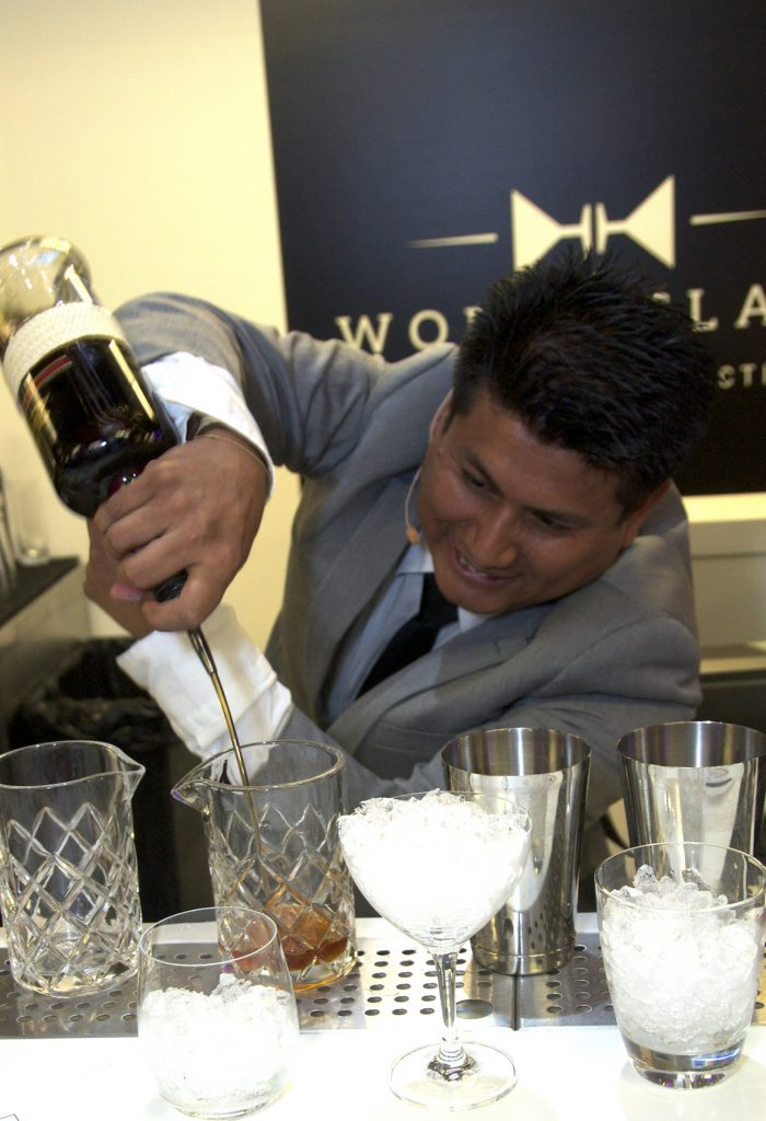 DIAGEO_Santos Mercedes Enriquez of Celebrity Cruises during the Diageo Global Travel World Class Final