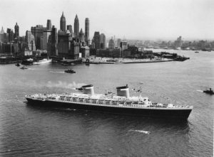 SS United States departing NY City. Photo courtesy Charles Anderson, SS United States Conservancy