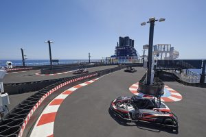 The Go-Cart Racetrack on Norwegian Bliss