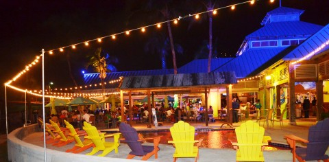 margaritaville constructed environment open-air concept dining in Paradise
