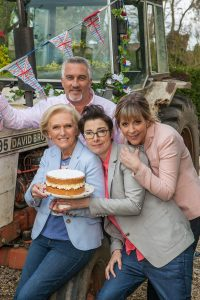 Paul Hollywood, Mary Berry, Sue Perkins and Mel Giedroyc of the Great British Bake-Off
