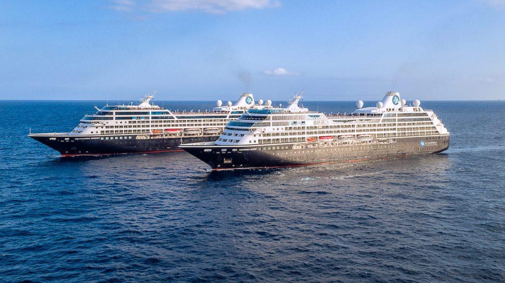 Azamara's sister ships meet in Barcelona