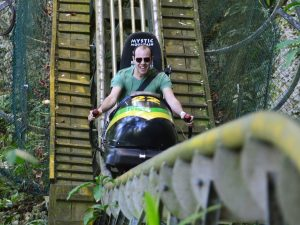 Jamaican bobsled at Mystic Mountain