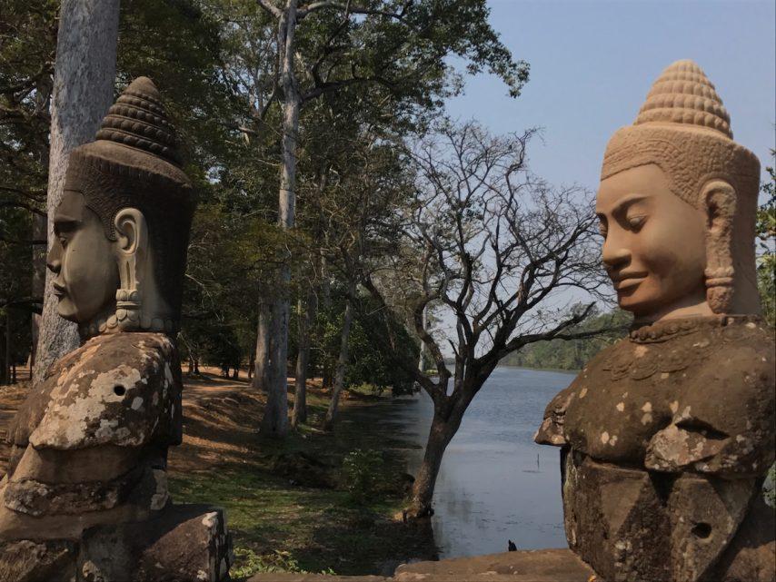 Angkor Wat statuary Cambodia