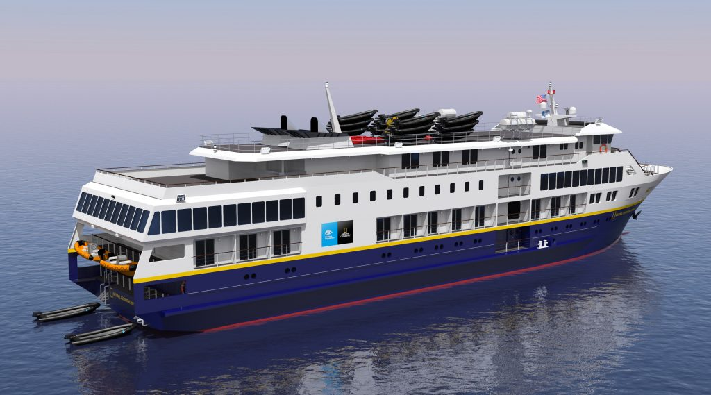 Lindblad To Build Two New USFlagged Ships Cruise News Dec - Us flagged cruise ships