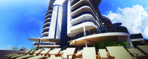 MSC Seaside's towering high-rise apartments