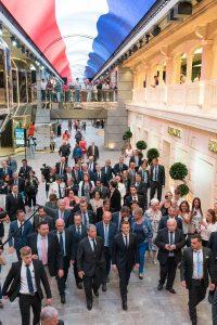 President Macron tours MSC Meraviglia