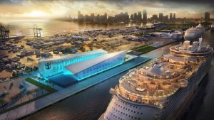 "Royal Caribbean's new ""Crown of Miami"" terminal at PortMiami"