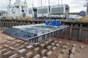 Keel-laying for Seabourn Ovation