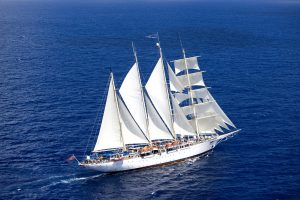 Star Clippers' ship at the Antigua Classic Yacht Regatta.