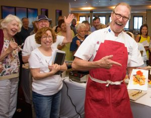 Chef Michael Nischan demonstrates a delicious dish.