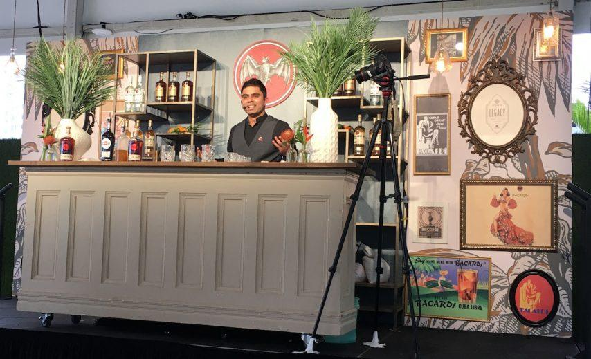 Royal Caribbean International bartender Shekhar Grover at the 2018 USBG Legacy Cocktail Competition, sponsored by Bacardi