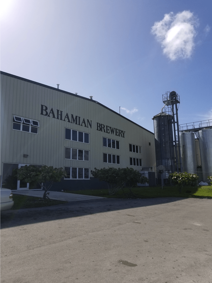 Bahamian Brewery building. Christina Hunting