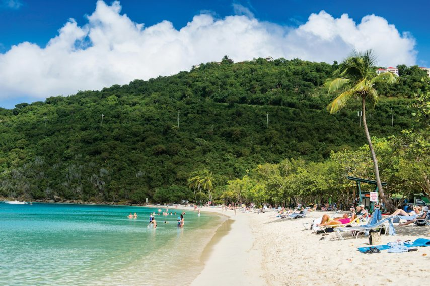 Caribbean beaches like Magens Bay on St. Thomas are looking good again