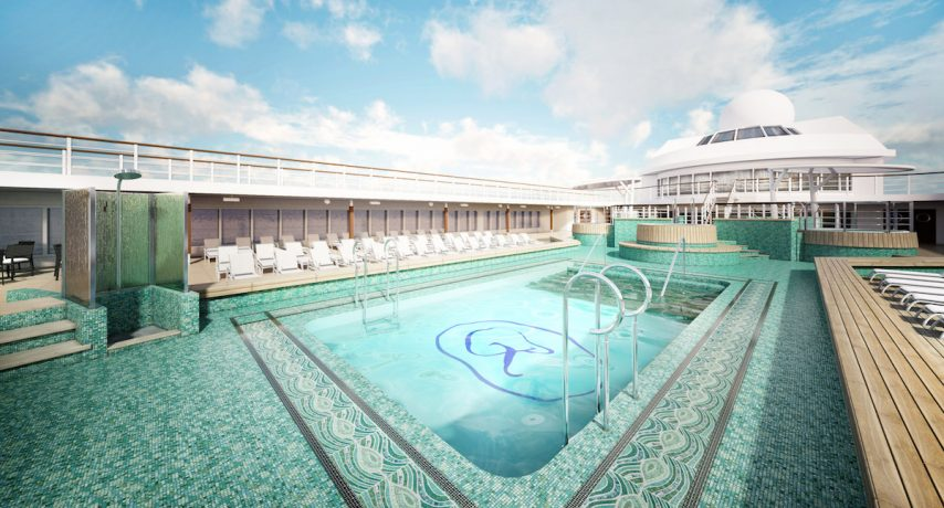 Seven Seas Mariner's new mosaic-tiled pool.