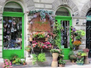A florist shop on Andrassy ut