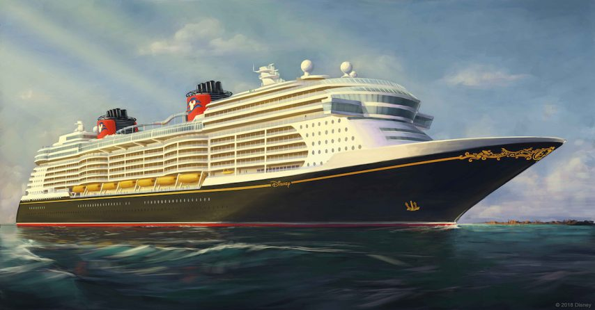 The Disney Cruise Line fleet has the most beautiful ships at sea and the three newest vessels setting sail in 2021, 2022 and 2023 will be no exception. This first, early rendering depicts the magnificent exterior of the newest Disney ships that will elevate family cruise vacations to a whole new level. In keeping with the distinct Disney Cruise Line style, the new ships will embody the elegance and romance of the golden age of ocean cruising with unique touches all their own. The new vessels will offer more innovation, new technologies, spectacular entertainment and more Disney stories and characters than ever before. Ingenuity and innovation from stem to stern will amaze and delight Disney Cruise Line guests of all ages. Each new ship will be approximately 140,000 gross tons and each is currently planned to include about 1,250 guest staterooms.
