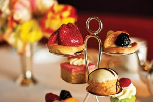 Petit-fours and hors d'oeuvres for afternoon tea