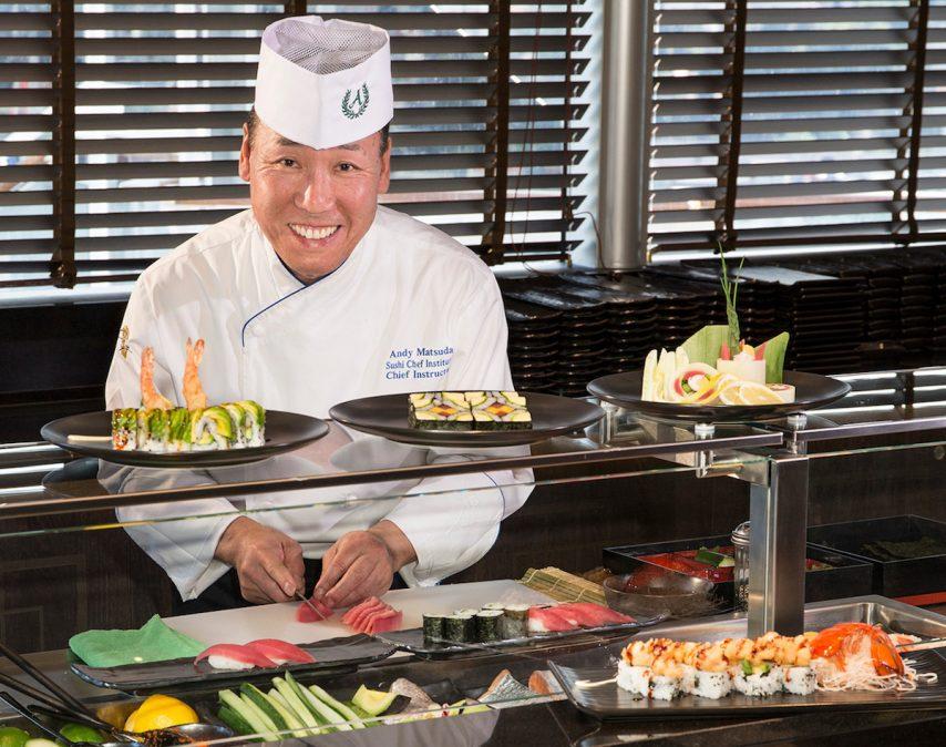 Sushi Chef Andy Matsuda Koningsdam - Holland America Line