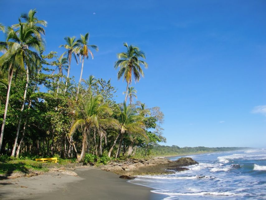 The Cahuina beach near Goddess Garden Eco Resort Yoga