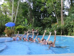 Aqua yoga in the jungle