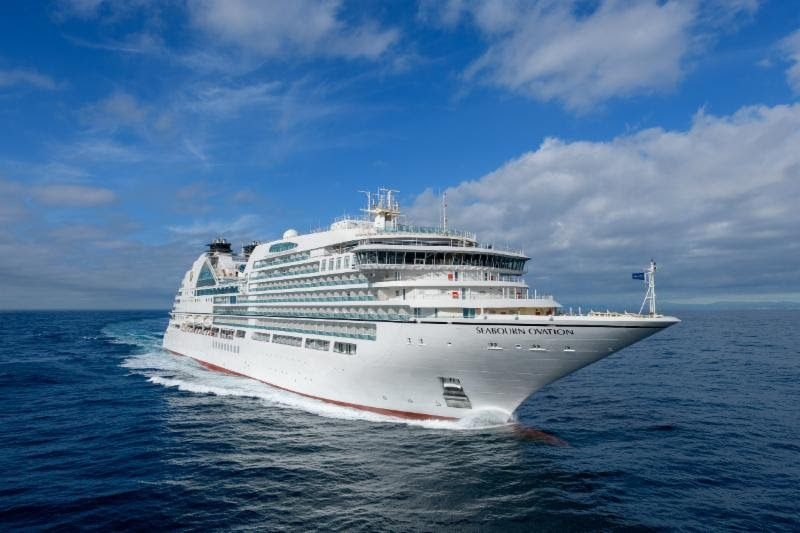 Seabourn Ovation passing her sea trials