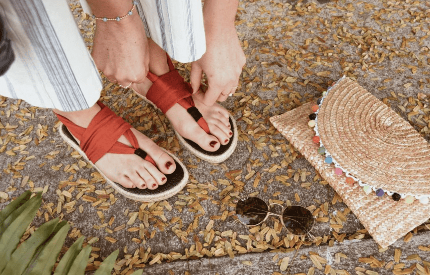 My Sandals Are Made From Yoga Mats And They Help Women