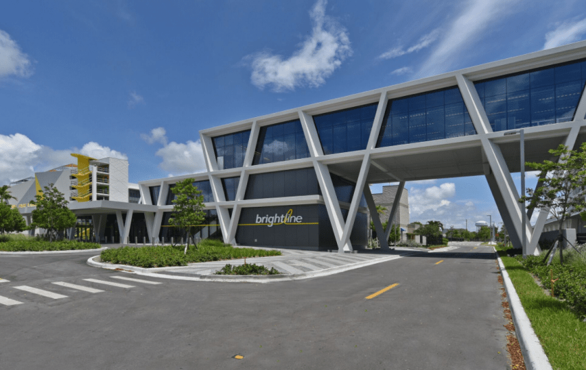 Brightline Virgin Train Station