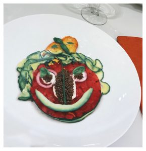 Food Face Plate by Judi Cuervo