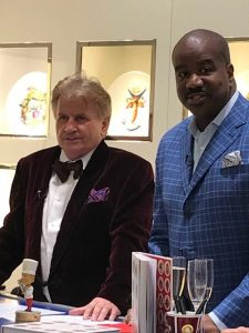 Chef Rudi Sodamin with Holland America Line President Orlando Ashford