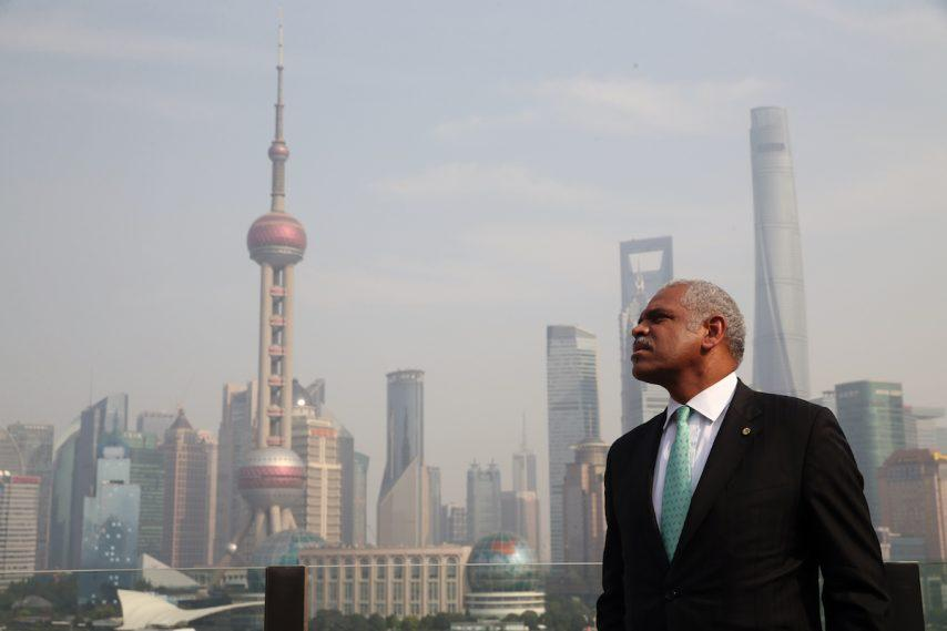 Carnival Corp CEO Arnold Donald in Shanghai