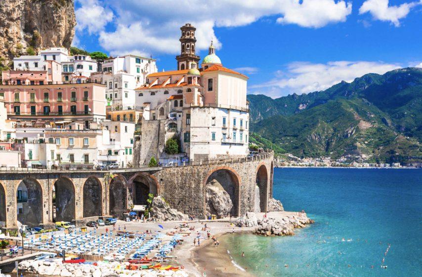 Atrani village in Amalfi coast of Italy