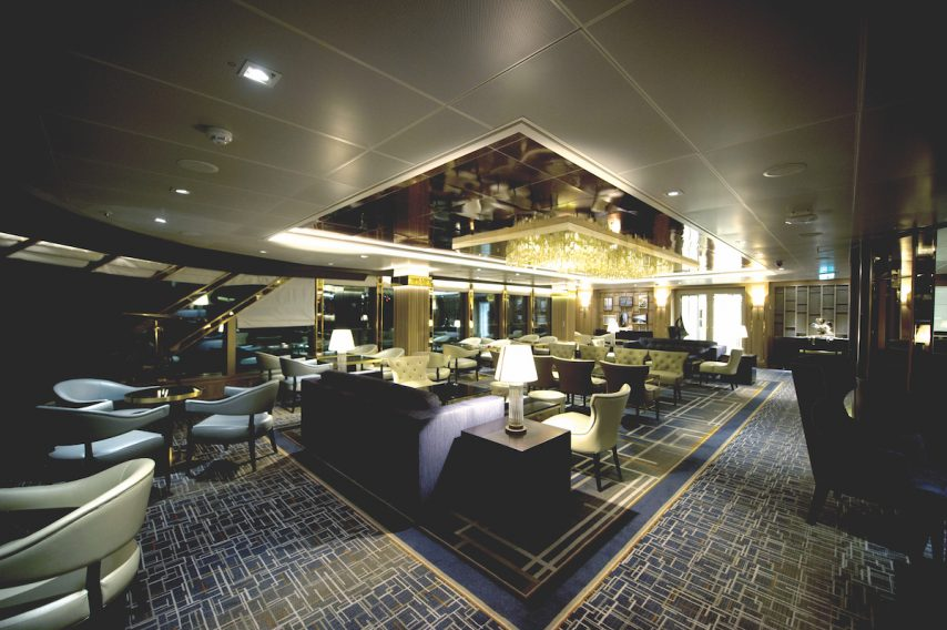 The Crow's Nest bar aboard P&O Cruises Britannia