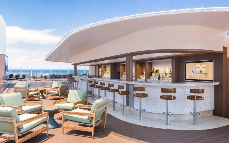 Norwegian Encore; Encore; Breakaway Class; architectural rendering; architecture; ships; Public Spaces; Vibe Beach Club