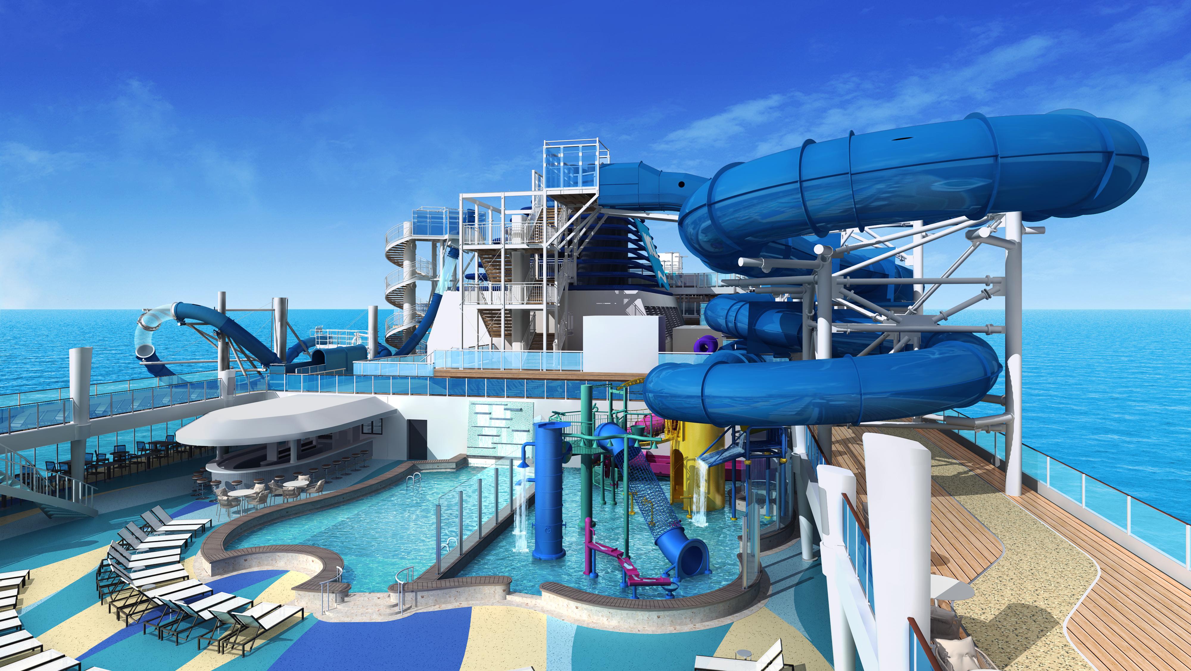 Norwegian Encore - Aqua Park Rendering