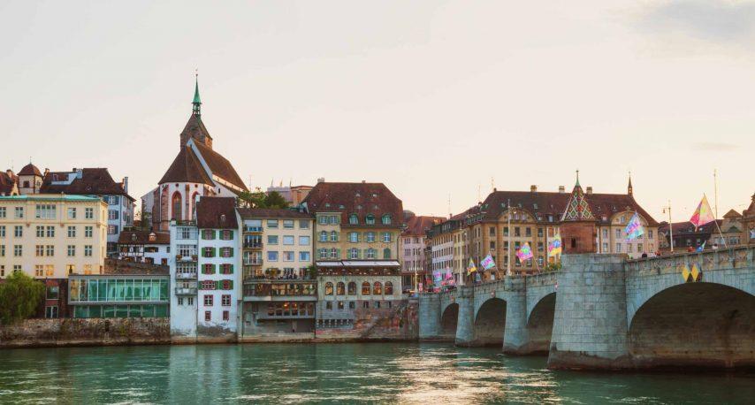 Rhine River   Basal Switzerland