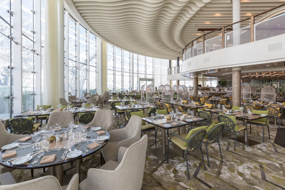 Launch of Symphony of the Seas, Royal Caribbean International's newest and largest ship.  Solarium Bistro