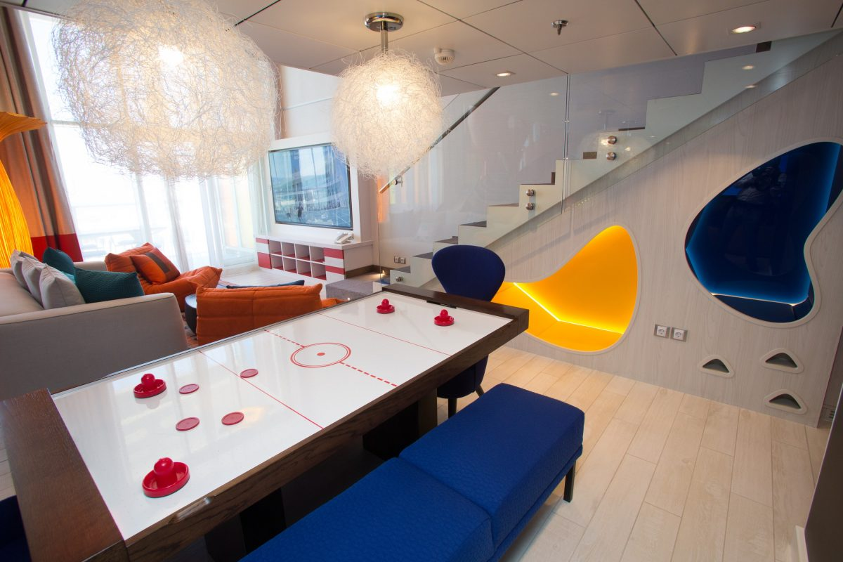Launch of Symphony of the Seas, Royal Caribbean International's newest and largest ship.Ultimate Family Suite.