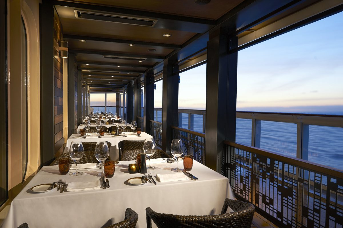 Cagney's Steakhouse on Norwegian Bliss