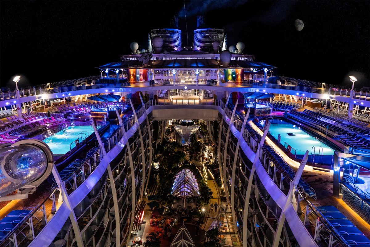 Symphony of the Seas Night Time Moon